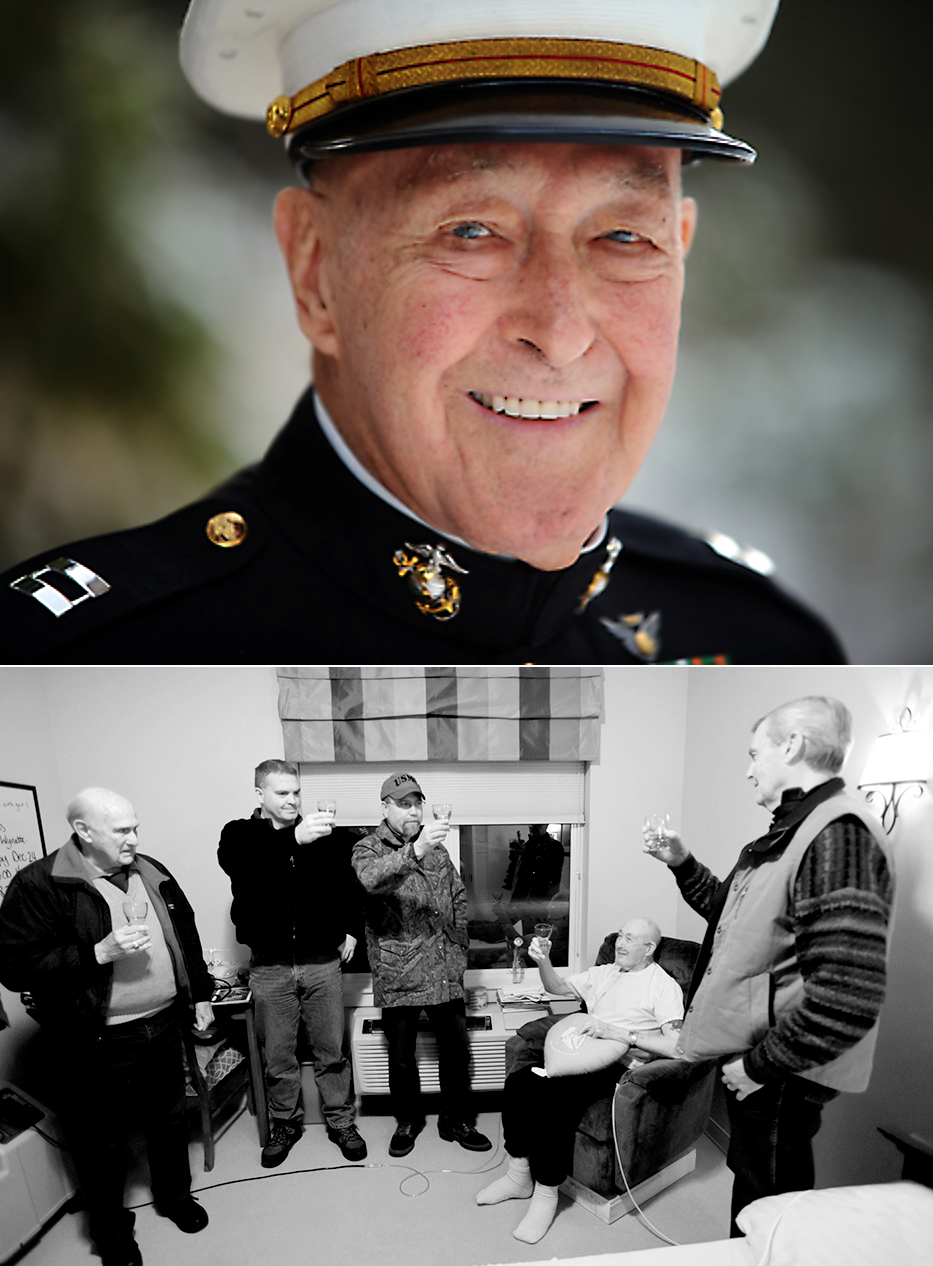 Last year I wrote a story about USMC Captain Wayne Bolton. This year for Christmas Wayne ended up recovering from triple-bypass surgery. But he wasn't alone for the holidays. The Marines turned out to Celebrate Christmas with him. Semper Fi!