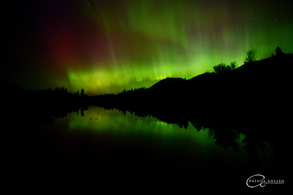 Northern Lights over Upper Stillwater Lake
