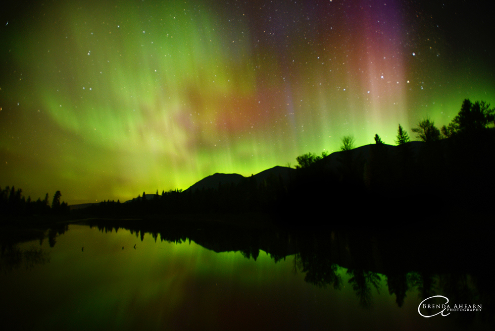 Northern Lights over Upper Stillwater Lake
