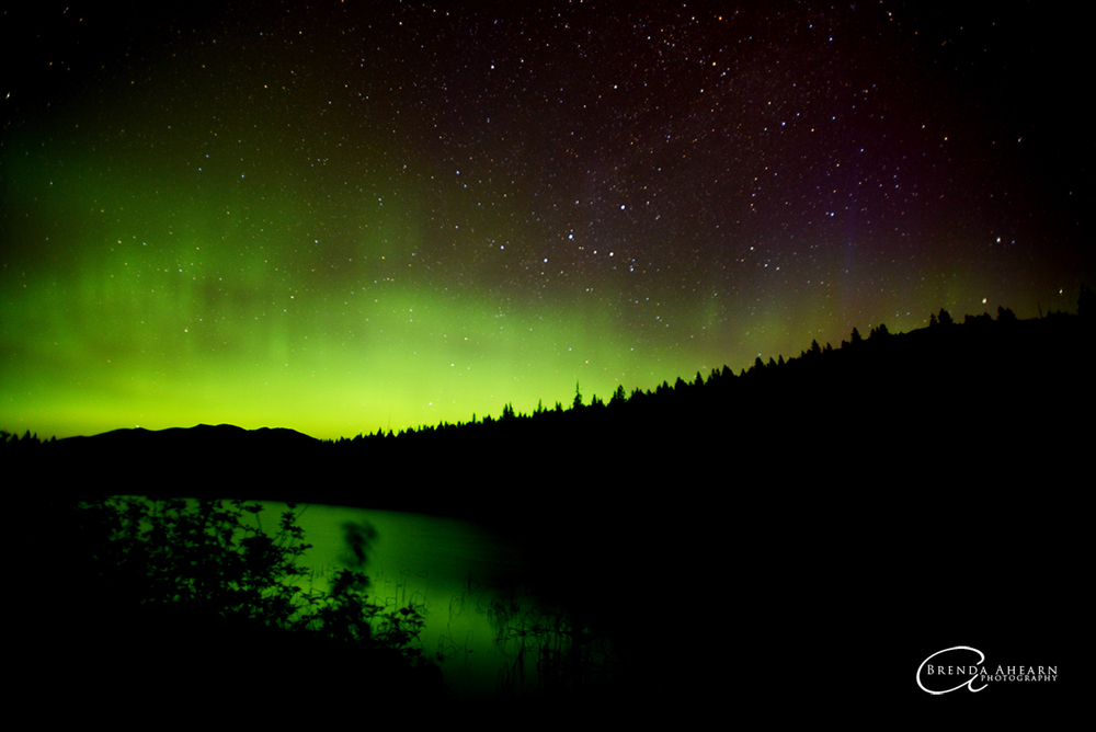 Northern Lights over Sunday Lake, near Stryker, Montana