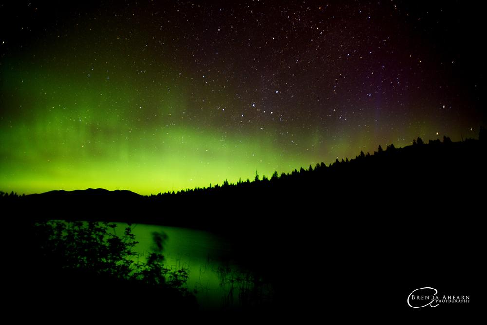 Northern Lights over Sunday Lake, near Stryker, Montana