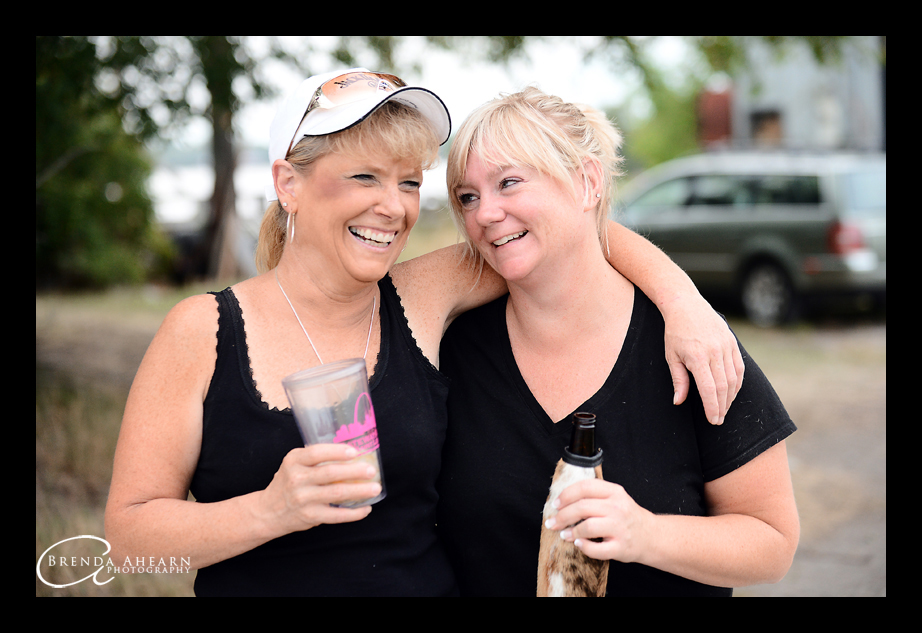 The Moms share a laugh during the senior session.
