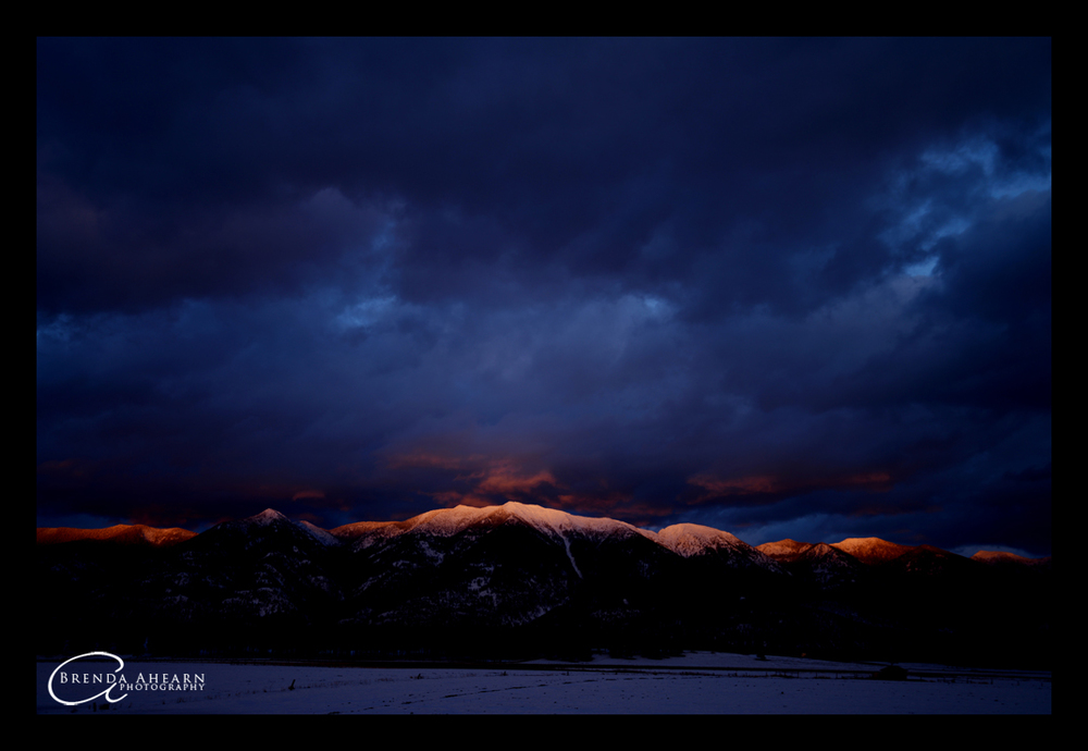 Last light on the Swan Mountains