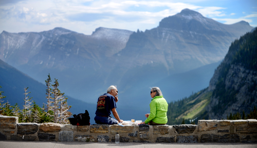 Lunch at Logan Pass