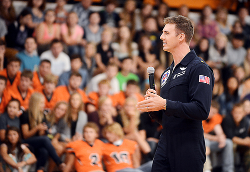 Major Jason Curtis returns to Flathead High School