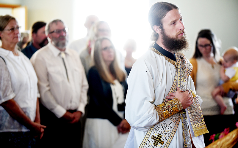 The Re. Daniel Kirk before receiving his ordination and vestments on Sunday, July 19, at Saint Herman Orthodox Church in Kalispell. (Brenda Ahearn/Daily Inter Lake)