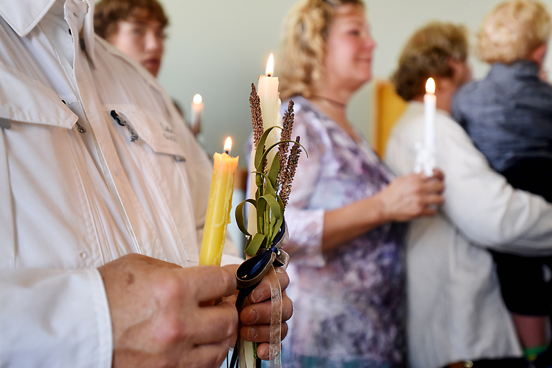 Detail of service at Saint Herman Orthodox Church in Kalispell, on Sunday, July 19. (Brenda Ahearn/Daily Inter Lake)