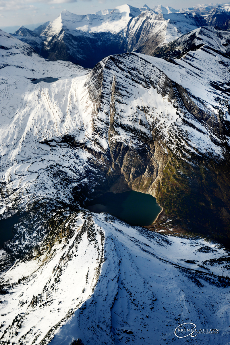 Aerial view of Glacier National Park.