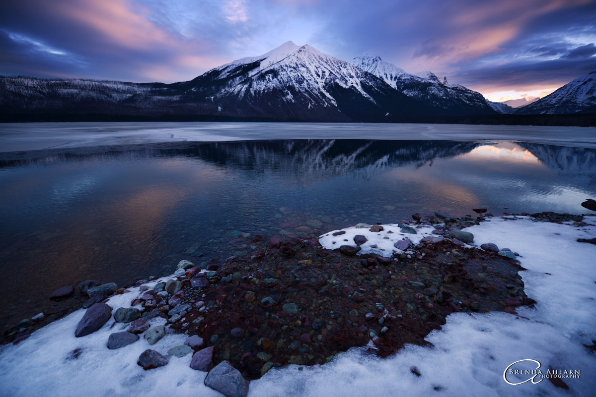 Lake McDonald, Glacier National Park at sunrise.