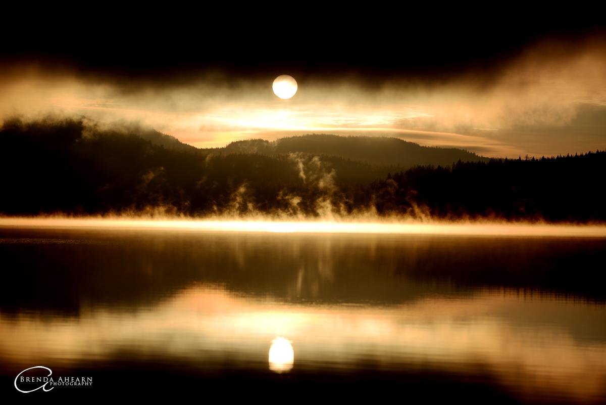 Sunrise at Dickey Lake, north of Whitefish, Montana.