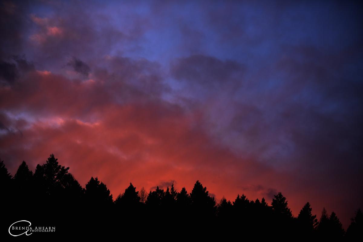 Sunset south of Whitefish, Montana.