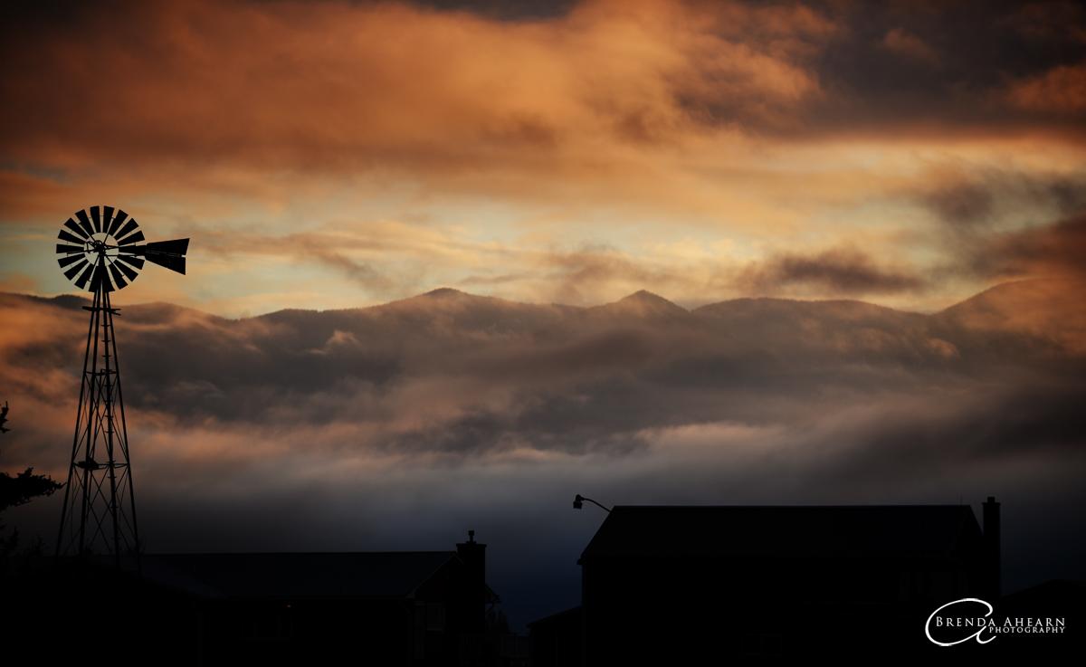 Sunrise view north of Kalispell, Montana.