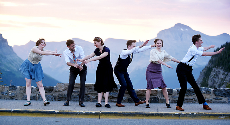 Sunrise in Glacier with Swing Dancers