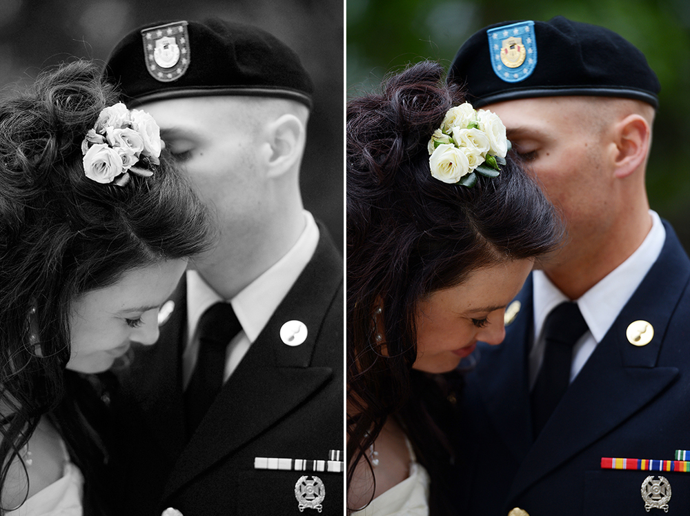 A soldier and his bride and their wedding in Glacier