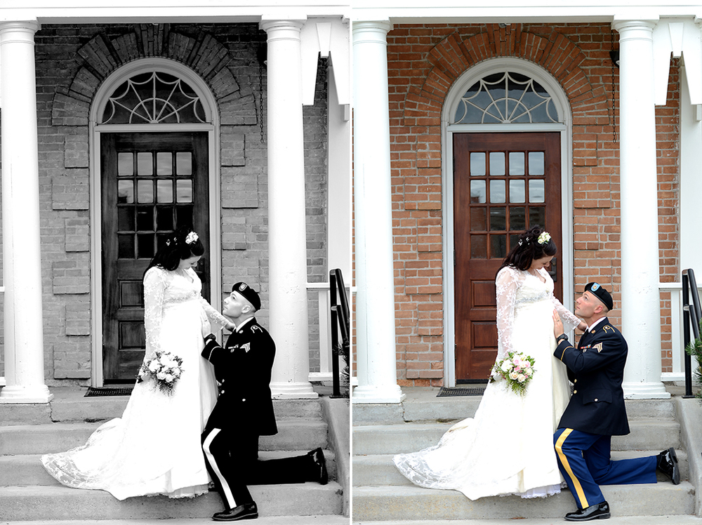 Montana Veterans Home chapel Army wedding