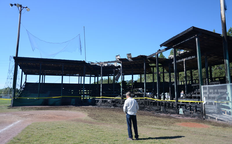 stadium baseball fire montana
