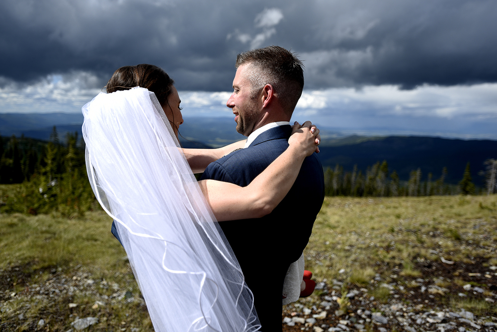 Blacktail Mountain wedding