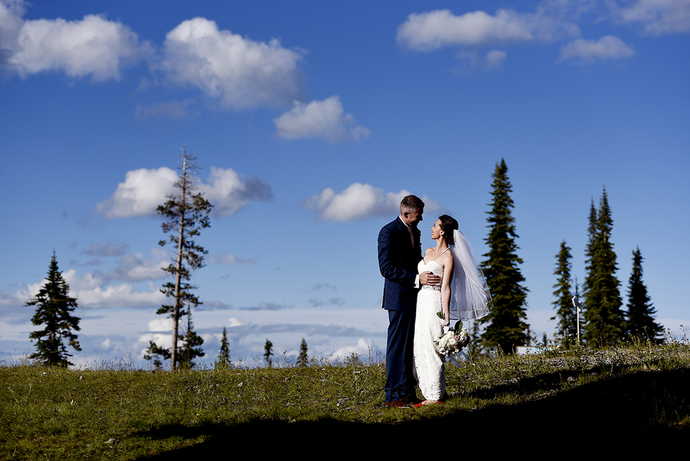 gorgeous light montana wedding
