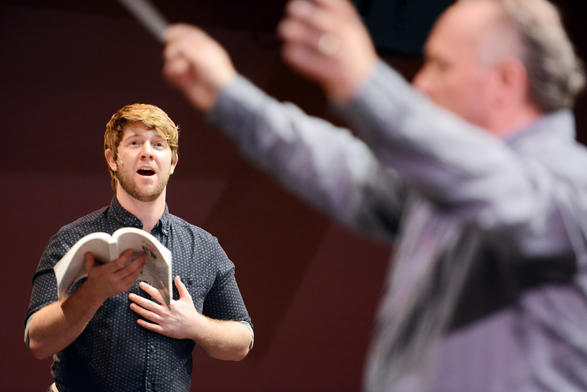 This year two of my favorite organizations in the Flathead Valley joined forces for an incredible performance. Here Eric Michael Krop as Anthony Hope rehearses a song from Sweeney Todd, a joint production with the Alpine Theatre Project and the Glacier Symphony and Chorale.