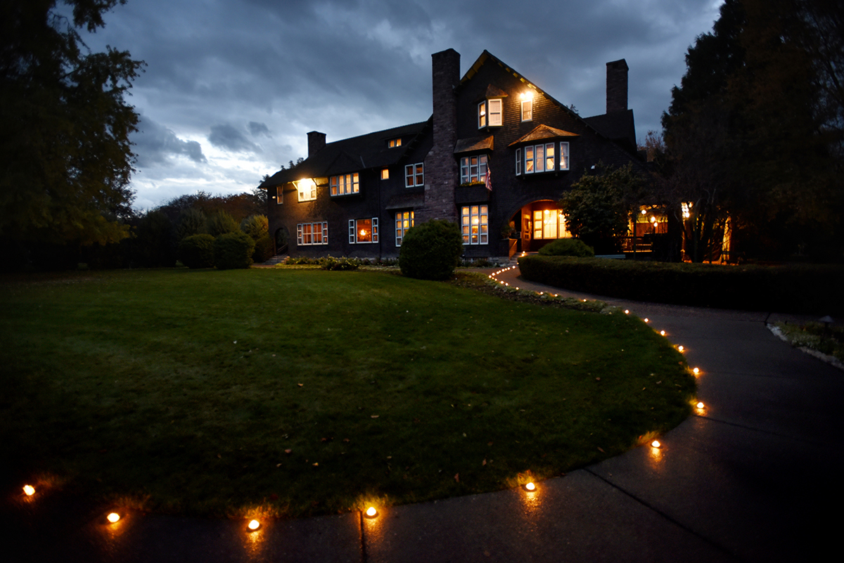 Ok. As I'm writing this, I'm starting to think 30 photos was too many. :) This is an image of the Conrad Mansion at sunset. For our entertainment section we did haunted stores from around the Flathead Valley and this was one of my favorite shots. The mansion graciously agreed to leave the lights on for me and I brought the candles to give the foreground more definition. The most annoying part of this was how the wind would blow and a few spots along the path were unprotected. I had to keep racing off to relight candles. But still, it made for a fun night.