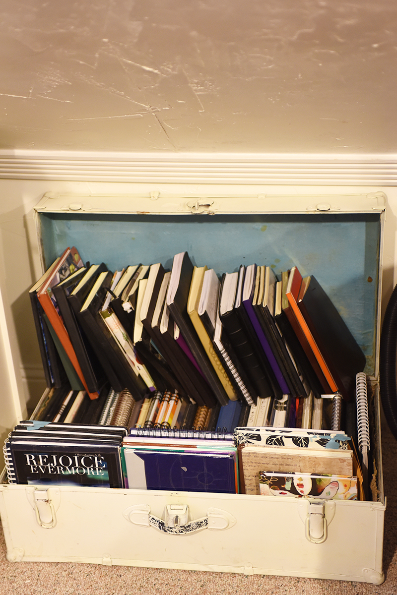 The trunk where I keep completed volumes is so full, I can't close it anymore. I need a bigger box...