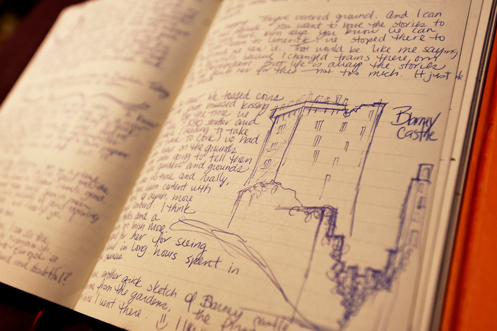 A page from my journal when I was backpacking Western Europe. This is Blarney Castle, in Ireland.