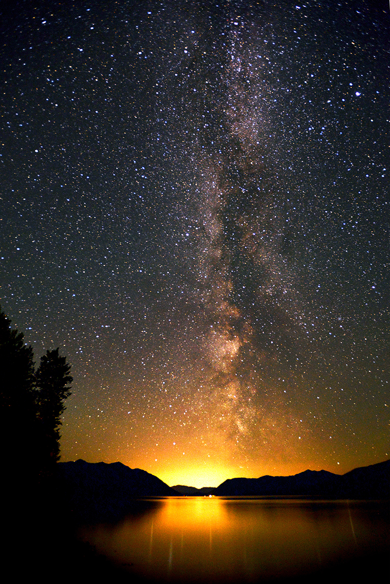 The Milky Way shines brightly over Lake McDonald, in Glacier National Park on Wednesday, July 18, at 3:21 a.m. (7/18/13)