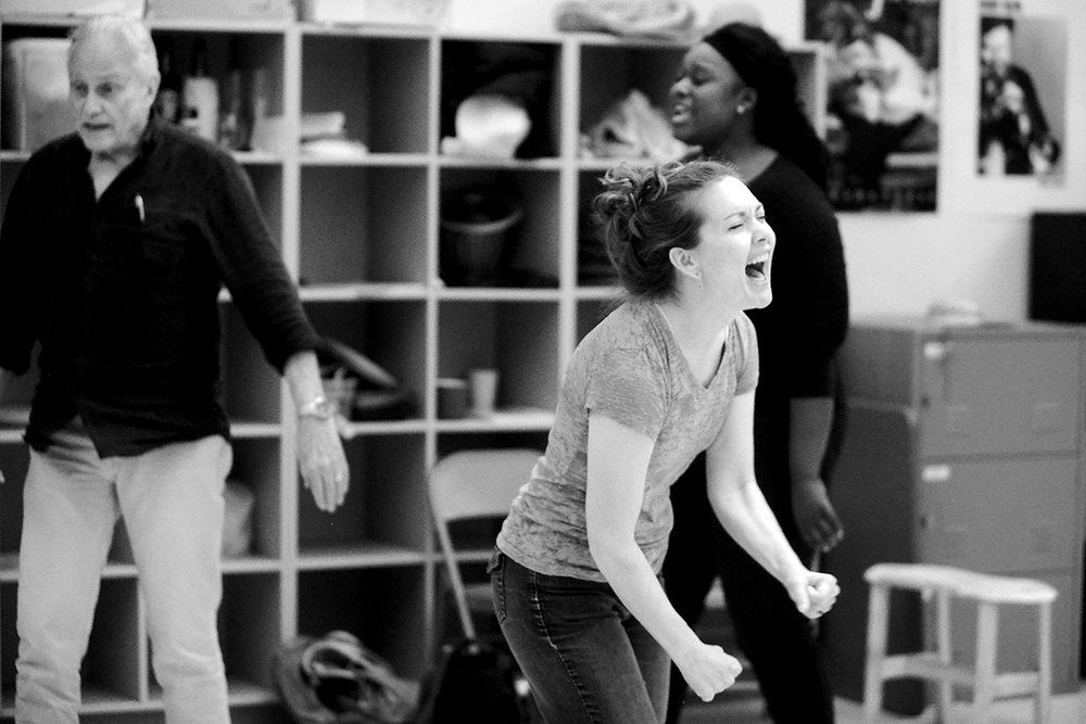 Rebecca Spear in rehearsal.