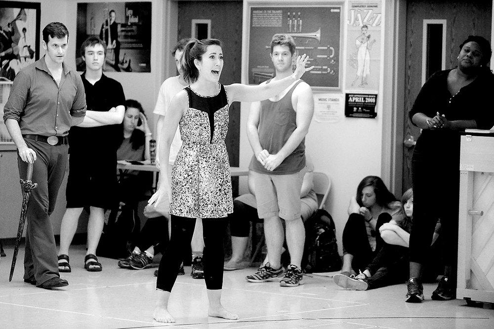 Susan O'Dea in rehearsal.