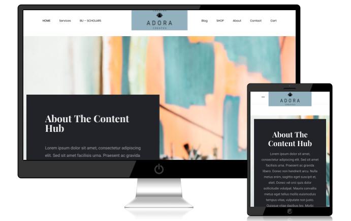 Web design for Adora Creates