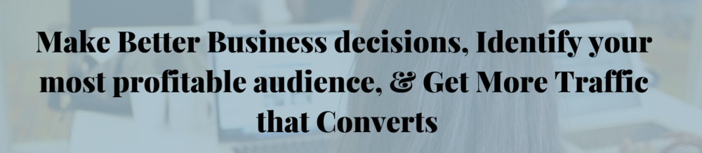 Make Better Business decisions, Identify your most profitable audience, & Get More Traffic that Converts.png