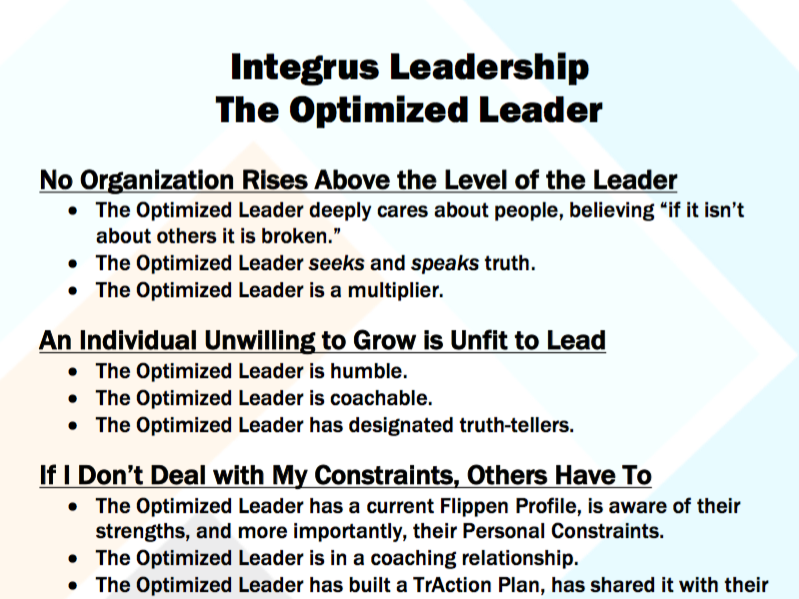 The Optimized Leader