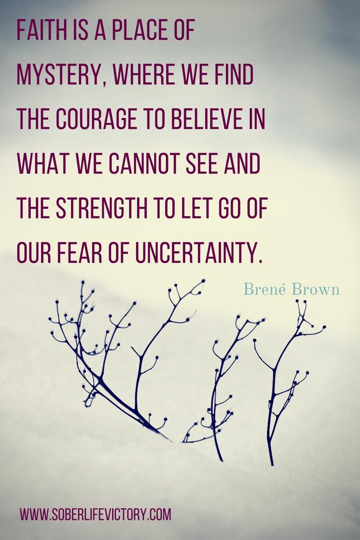 Focus on faith to remove uncertainity