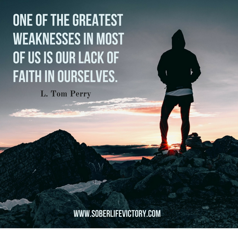 Lack of faith in ourselves quote