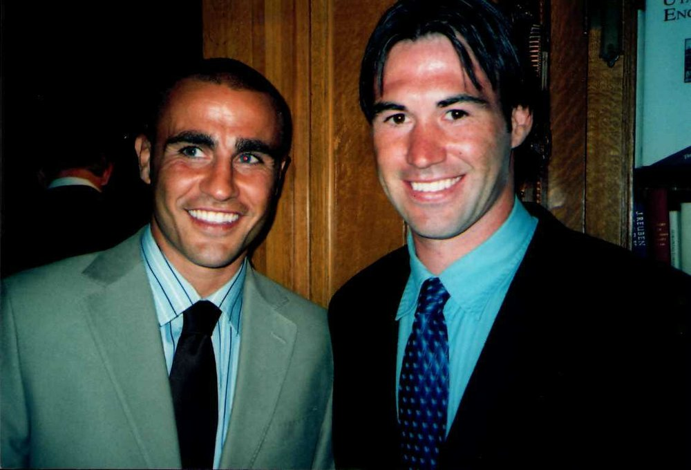 Fabio Cannavaro (Italian World Cup Champion, Champions League Winner, Ballon d'or recipient) with Coach Louis Staley (right).