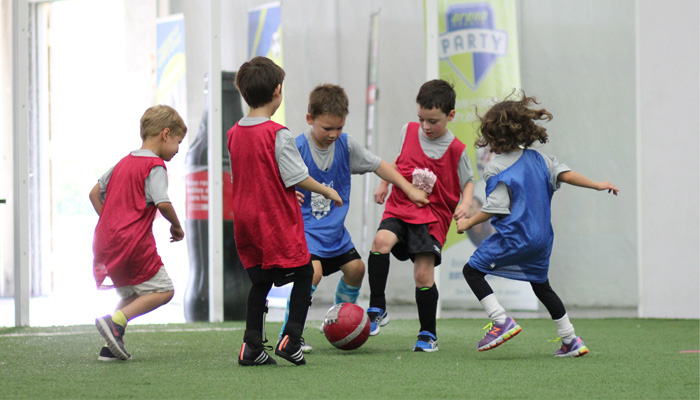 Kids soccer training