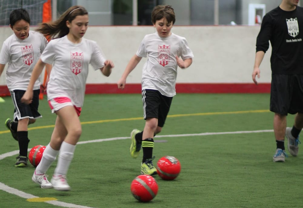kids indoor soccer training