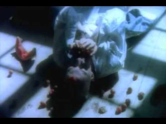 "A dark turn in the ""Mr. Vain"" music video where the hedonistic fruit orgy turns almost cannibalistic."
