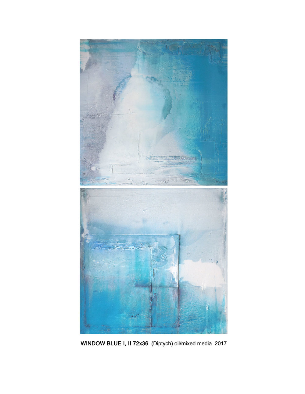 Window Blue I. II