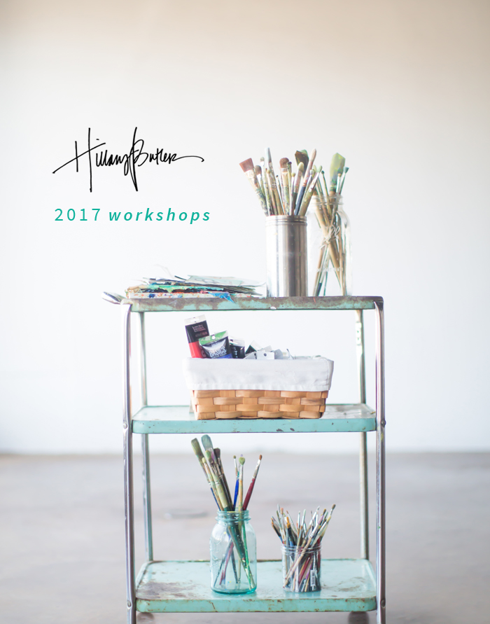 "One of my absolute favorite parts of my job is teaching workshops. I get so much joy from connecting people to their inner creative and empowering them to create their own original work. Remember when you were a kid and you sat on the floor and drew for hours? I like to bring back that childlike wonder and joy as often as possible and it's something we majorly tap into at the workshop. Why paint if you're not having any fun???? I love watching anxieties over ""messing up"" their piece melt away as we crank up the music and just play and explore all the different possibilities a blank canvas can hold."