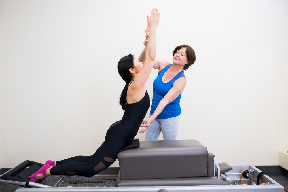 Universal Reformer with Refomer Box at True Pilates Boston