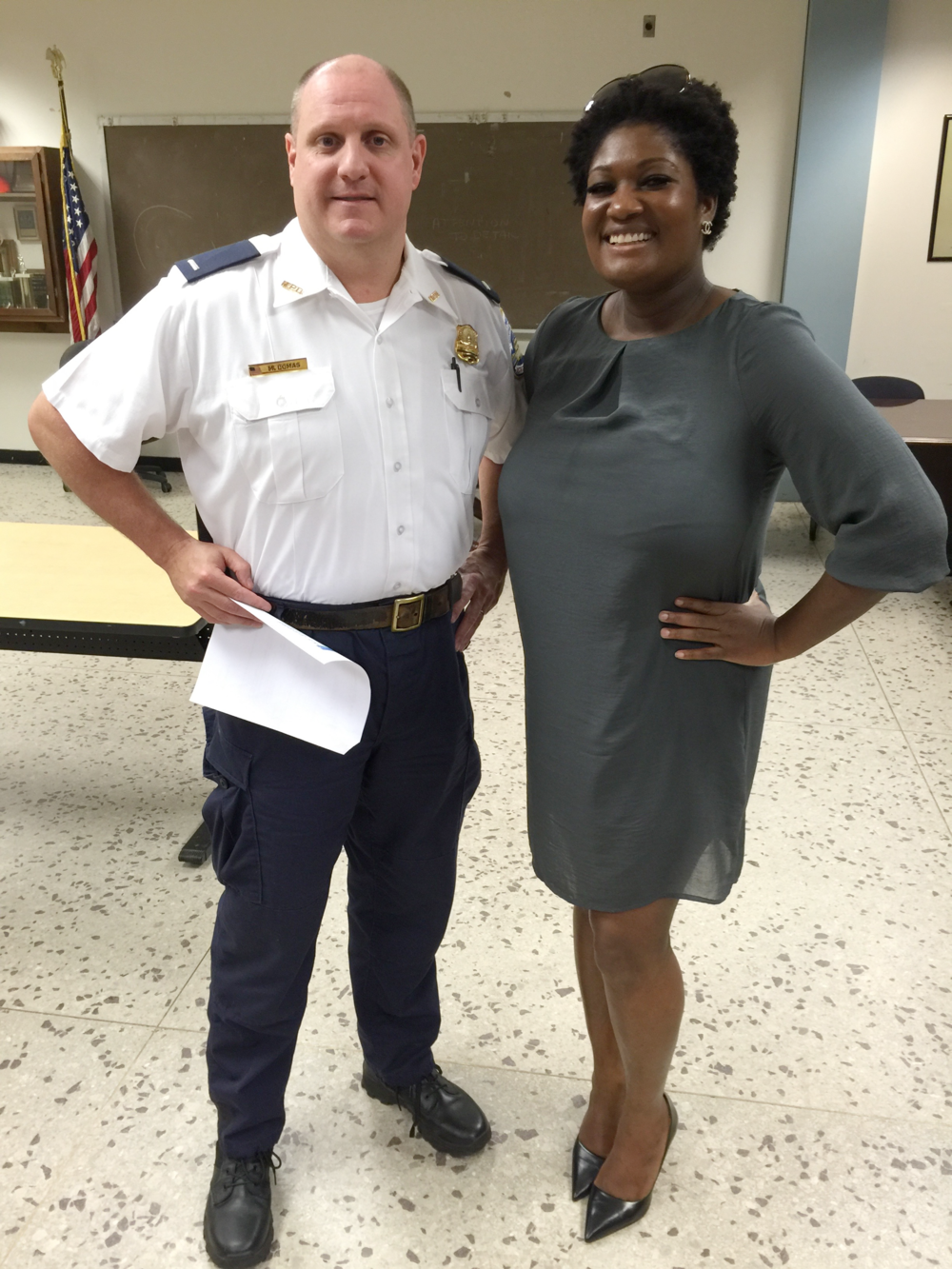 Attending PSA402 Meeting w/Lt Domas discussing crime reports and what we can do as a community to help deter crime.