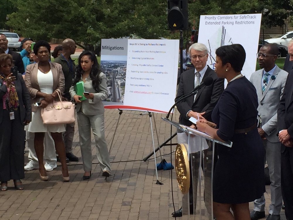 Attending Mayor Bowser's Press Conference on Metro Scheduled Safetrack