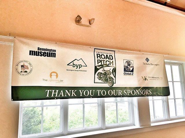Proud sponsors to Bennington's #RoadPitch #vtbeginshere #entrepreneurshipbeginshere #businessbeginshere #thankyou