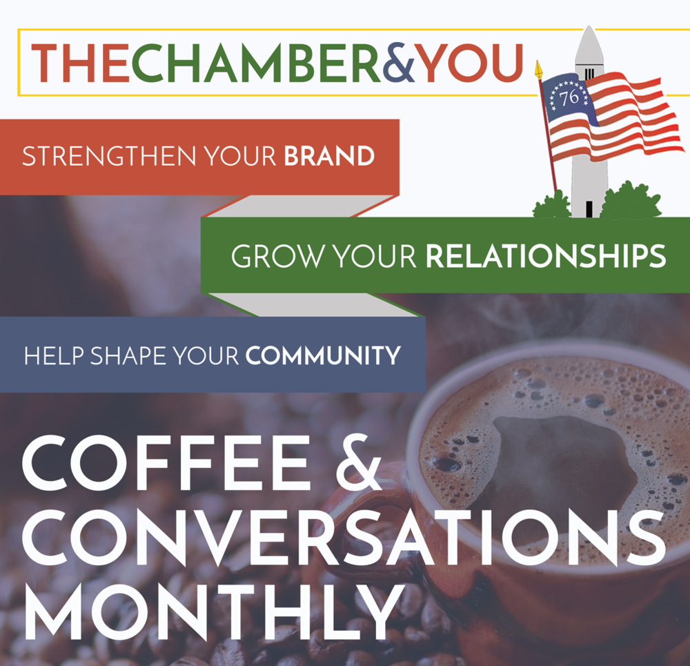 "Chamber Benefits Join the chamber & be included in the ""Coffee & conversations"" monthly programming Become A Member"