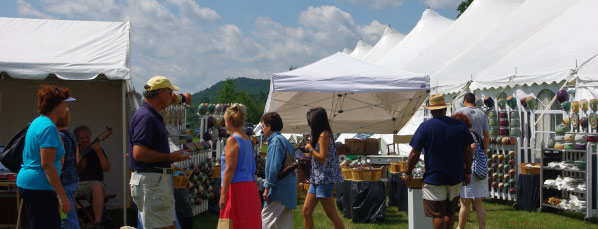 Shoppers at the Southern Vermont Art and Craft Festival.