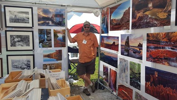 Photographer Colin Young at the Southern Vermont Art and Craft Festival