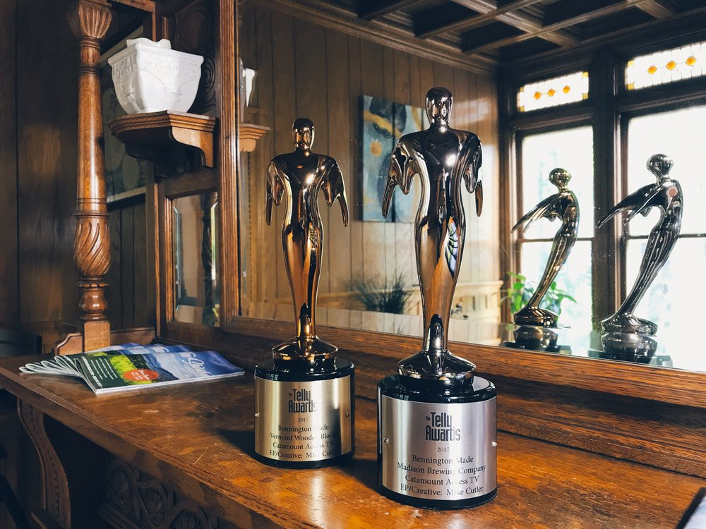 Bronze Telly Award (Bennington Made - Vermont Wooden Blocks), Silver Telly Award (Bennington Made - Madison Brewing Co.)