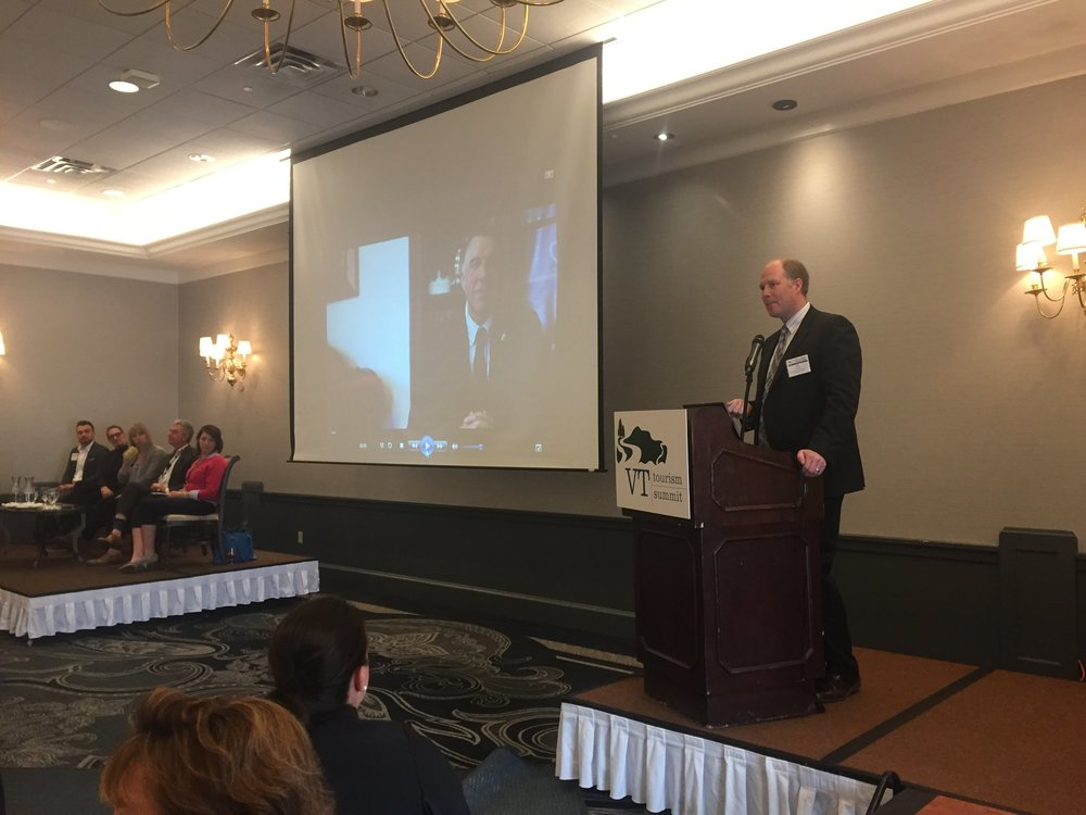 Governor Scott joined via video to welcome the crowd while Deputy Secretary Ted Brady of the Agency of Commerce and Community Development joined.