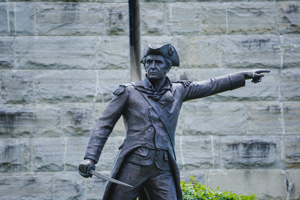 Historic statue at the Monument in Bennington, VT...visit the site to find out more 🙂